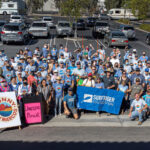 More than 200 people volunteered at a citywide cleanup and food drive in San Marcos led by Councilmember Randy Walton to raise awareness about the damages of single-use plastics. Photo courtesy of Randy Walton