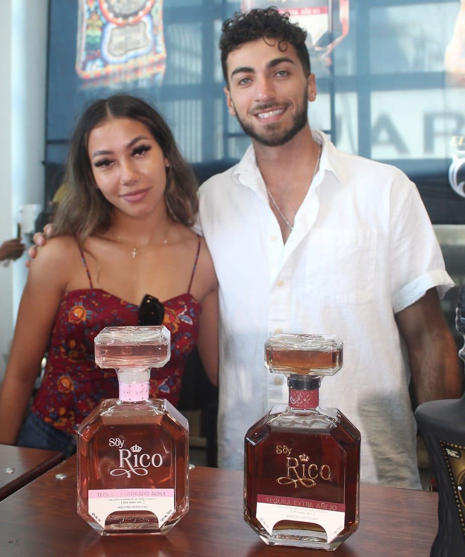 Soy Rico's Tequila Reposado Rosa and Tequila Extra Anejo presented by reps Samantha Hamlin and Chris Ibrahim at the Port Pavilion this last weekend in downtown San Diego. Photo by Frank Mangio