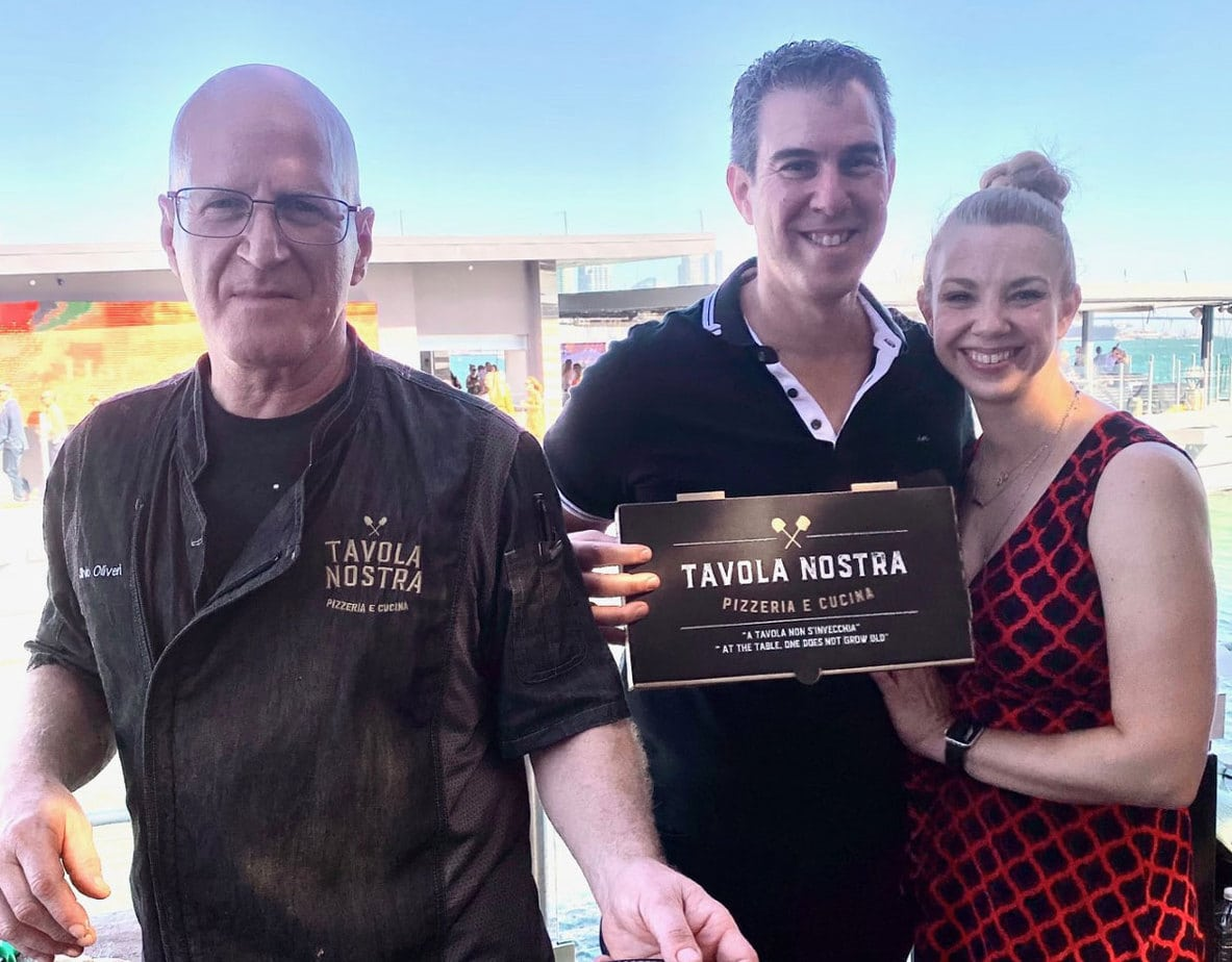 Tavola Nostra's Silvio Oliveri, left, owner Jeff Oliveri, and Michelle at the 18th Annual Harvest for Hope at Coasterra restaurant. Photo by Rico Cassoni