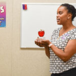 """oceanside teacher Xylena """"Xye"""" Sanders has taught special education students with mild to moderate needs at Cesar Chavez Middle School since 2007, the year the school opened. Photo by Samantha Nelson"""