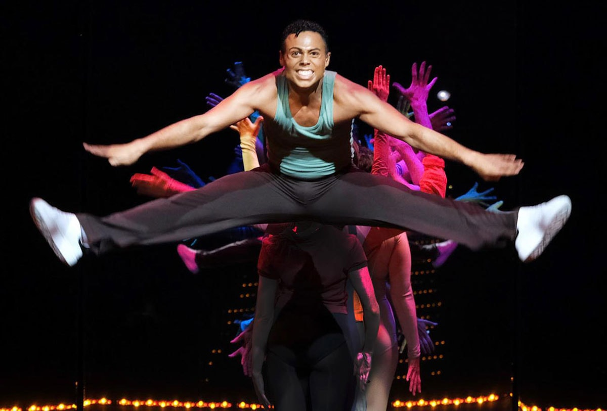 """Actor Xavier J. Bush plays """"Richie"""" in Moonlight Amphitheatre's production of award-winning musical, """"A Chorus Line."""" Photo by Ken Jacques Photography"""
