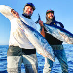 Captain Zac Hood and First mate Jesse Hughes with two nice Bluefin tuna.