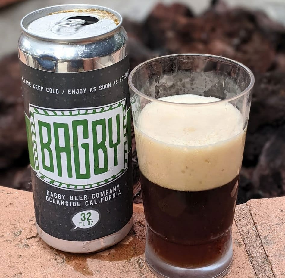 """Bagby Beer Company in Oceanside brews a top-rated English-style brown ale, """"Three Beagles Brown."""" Photo by Jeff Spanier, I Like Beer the Podcast"""