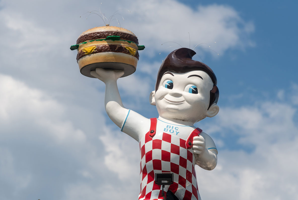 Legendary burger mascot 'Big Boy' was first created for Bob's Pantry in 1936 by Bob Wian in Glendale, California. Courtesy photo
