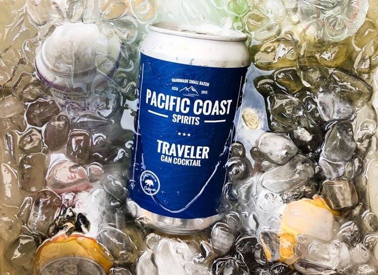 """Oceanside's Pacific Coast Spirits has launched """"crowlers,"""" or canned growlers, featuinr g"""