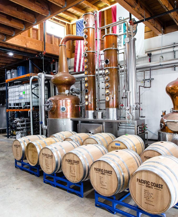 The distillery at Pacific Coast Spirits in Oceanside. Photo courtesy of Pacific Coast Spirits