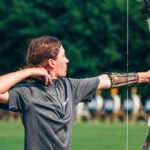 Luca Pierpan Tatro takes a shot during the USA Archery's JOAD Target Nationals earlier this month in Alabama