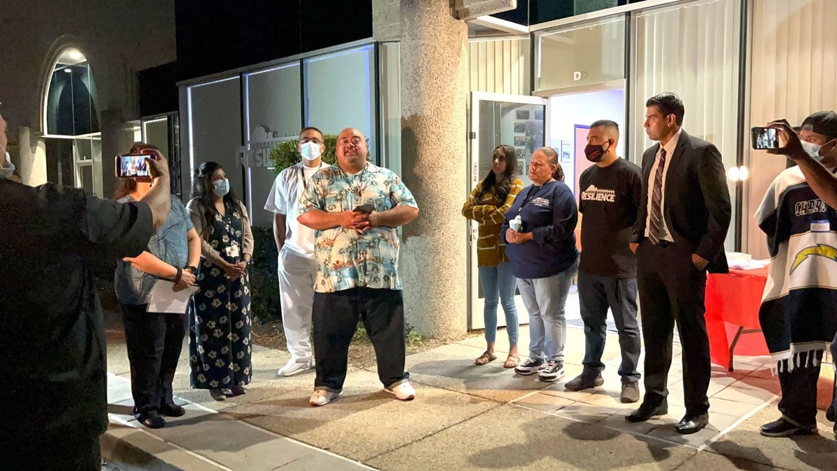 Joe Taulau, mentor with Resilience, shares how he can relate to his mentees in the program through his own lived experiences. Resilience recently opened the doors to its own location after three years without one. Photo by Samantha Nelson
