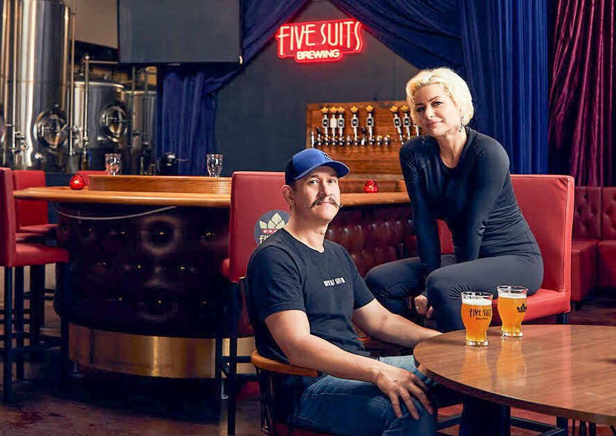 Nick Corona, owner and head brewer of Five Suits Brewing in Vista