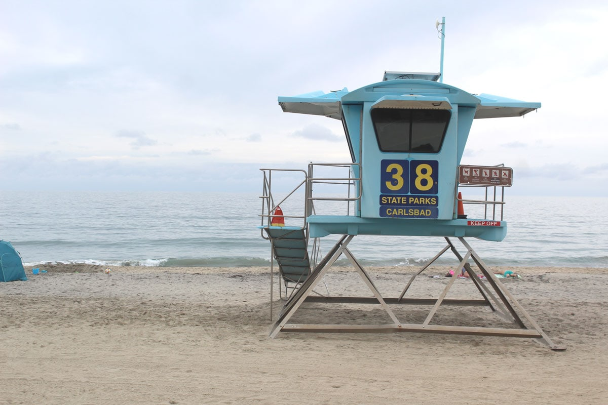 Lifeguards reported finding several tarballs near Tower 38 at Carlsbad State Beach. Photo by Steve Puterski